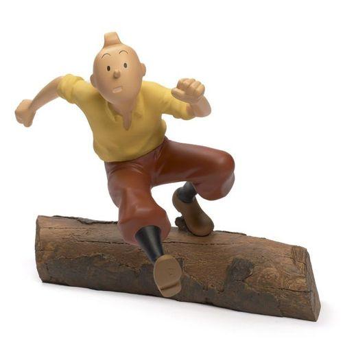 Leblon Delienne LEBLON DELIENNE  Tintin au tronc d'arbre  Sculpture en résine po…