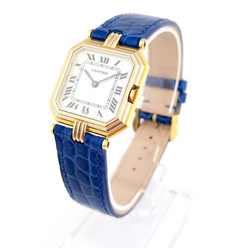 """CARTIER """"Trinity Belt 3 Golds"""" Large Model (unisex) 27 mm WATCH with 750/°° whit…"""