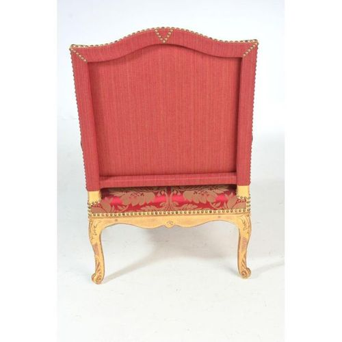 PLEASANT FOLLOW UP OF 4 LOUIS XIV FALLS with high backrest in gilded and carved …