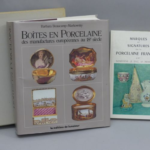 PORCELAIN Set of 2 books :  Porcelain boxes from European porcelain factories in…