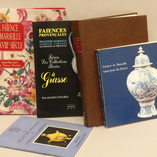 FAIENCE DE MARSEILLE Lot of 5 books :  Marseille earthenware in the 18th century…