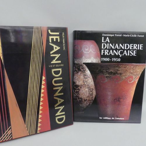 DINANDERIE Set of 2 volumes :  Life and Work of Jean Dunand / Félix Marcilhac  L…