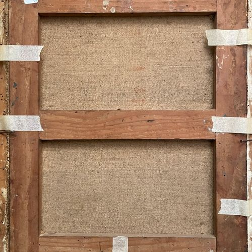 ECOLE FRANCAISE XIXe  Voiliers au port  Huile sur papier marfouflé sur toile  45…