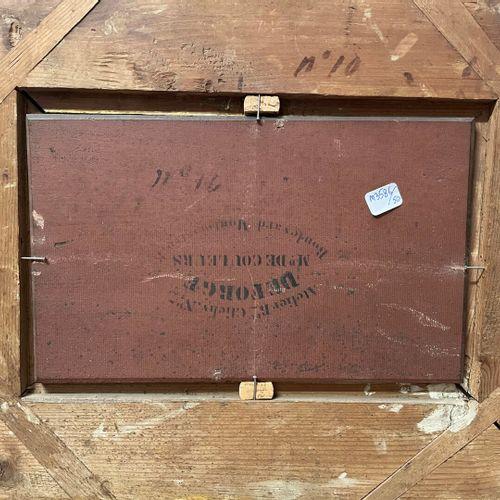 ECOLE FRANCAISE XIXe  La chasse à courre  Huile sur panneau  18 x 29 cm