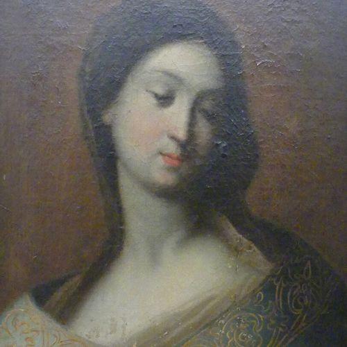 ECOLE FRANCAISE fin XVIIIe début XIXe  Portrait de jeune femme à la broche caboc…