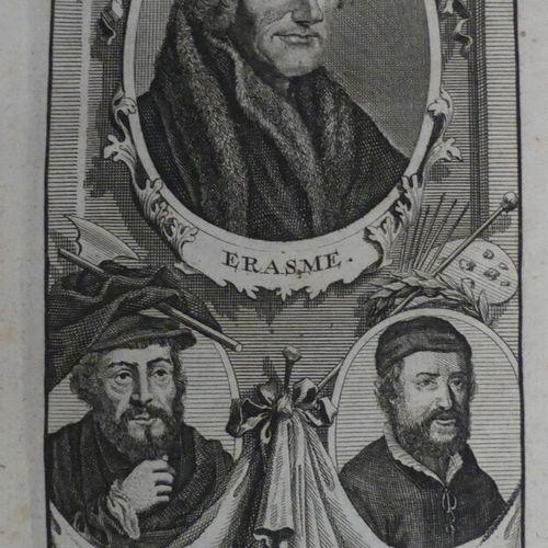 ÉRASME. L'ÉLOGE DE LA FOLIE. Amsterdam, François L'Honoré, 1745. Grand in 12 mar…