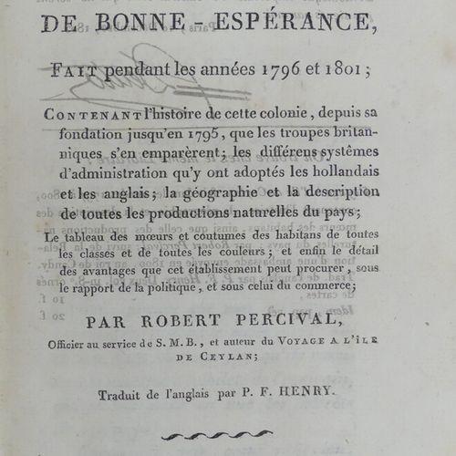 PERCIVAL (Robert). VOYAGE AU CAP DE BONNE ESPÉRANCE, fait pendant les années 179…