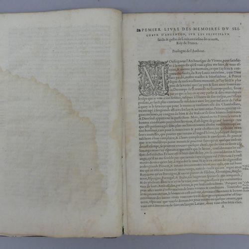 COMMINES (Philippe de). LES MÉMOIRES. Paris, Galliot du Pré, 1561. Petit in foli…