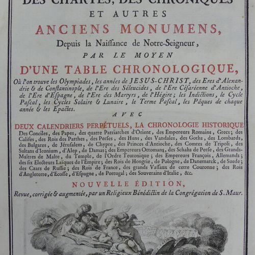 [DANTINE (Fr.) DURAND (D. Ursin) CLÉMENCET (D. Ch.)]. L'ART DE VÉRIFIER LES DATE…