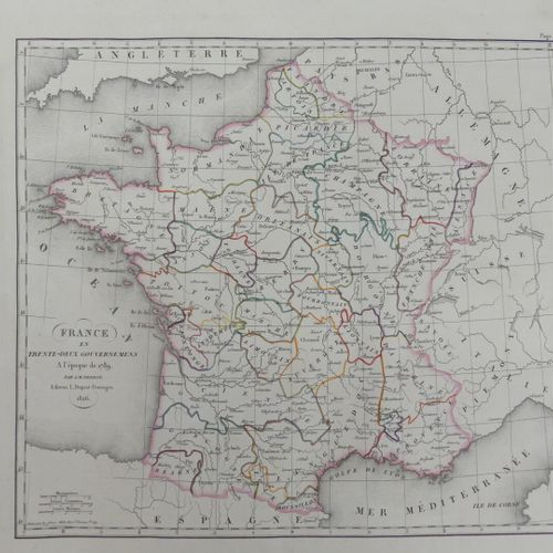 [ATLAS]. PERROT (A. M.) et AUPICK (J.). NOUVEL ATLAS DU ROYAUME DE FRANCE ou Car…