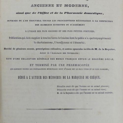[GASTRONOMIE]. [COUSIN (Maurice, comte de COURCHAMPS)]. DICTIONNAIRE GÉNÉRAL DE …