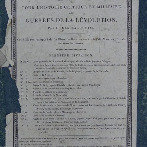 JOMINI (Général Henri de). ATLAS POUR L'HISTOIRE CRITIQUE ET MILITAIRE DES GUERR…