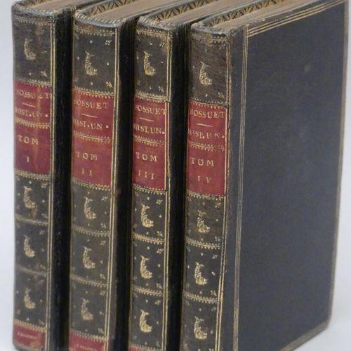 BOSSUET. DISCOURS SUR L'HISTOIRE UNIVERSELLE. Paris, Didot l'aîné, 1784. Quatre …