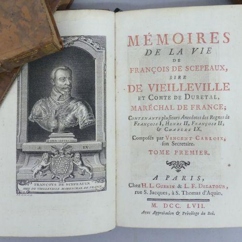 CARLOIX (Vincent). MÉMOIRES DE LA VIE DE FRANÇOIS DE SCEPEAUX, sire de Vieillevi…