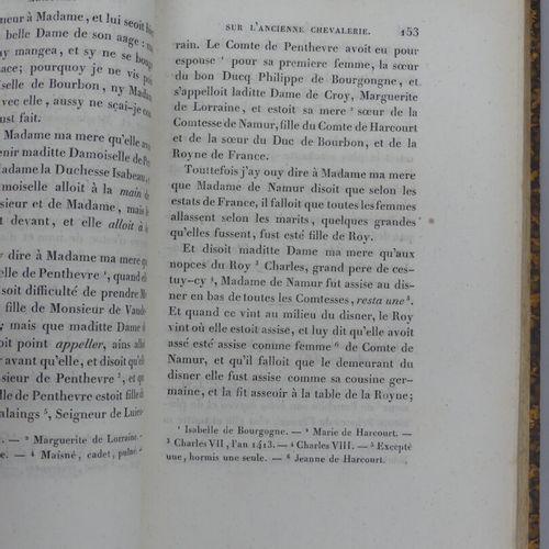 LA CURNE DE SAINTE PALAYE. MÉMOIRES DE L'ANCIENNE CHEVALERIE. Paris, Girard, 182…