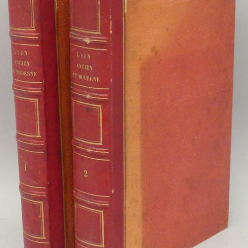 BOITEL (Léon). LYON ANCIEN ET MODERNE. Lyon, Boitel, 1838 43. Deux tomes in 8 de…