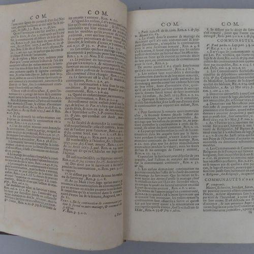 [DROIT]. ENSEMBLE DE 4 OUVRAGES DE DROIT XVIIe ET XVIIIe: FERRIÈRE (Claude de).…