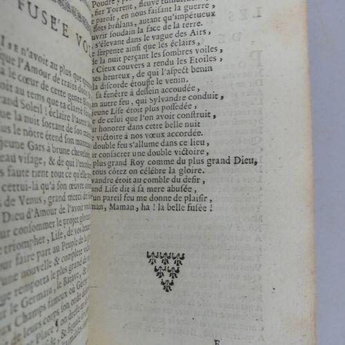 [ANONYME]. LES POÉSIES DIVERSES. Du Sieur D' *****. Slne, 1718. In 12 basane bru…