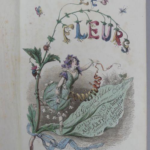 GRANDVILLE (J. J.). LES FLEURS ANIMÉES. Paris, G. De Gonet, 1847. Deux volumes g…
