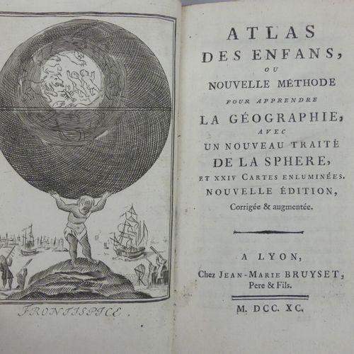 [ATLAS]. ATLAS DES ENFANS, ou Nouvelle méthode pour apprendre la géographie, ave…