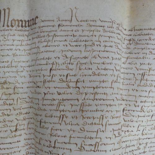 [MANUSCRIT]. ACTE NOTARIÉ daté «7 juillet 1456». Un grand f. (59 X 65 cm envir…