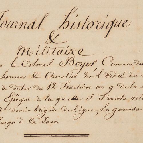 [MANUSCRIT 1ER EMPIRE]. JOURNAL HISTORIQUE ET MILITAIRE. Quatre cahiers très gra…