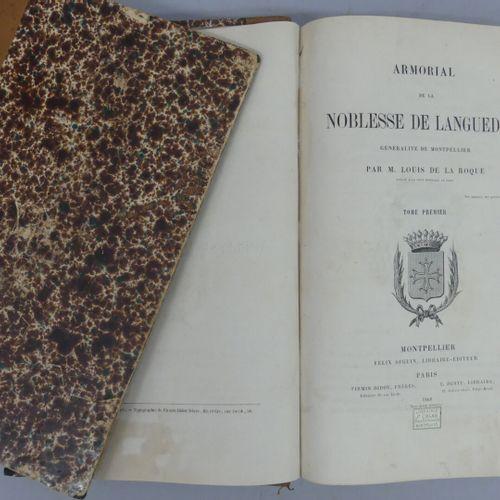 LA ROQUE (Louis de). ARMORIAL DE LA NOBLESSE DE LANGUEDOC. Généralité de Montpel…
