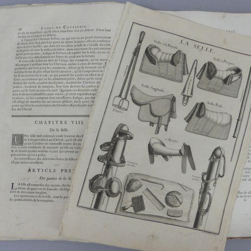[ÉQUITATION]. LA GUÉRINIÈRE (François Robichon de). ÉCOLE DE CAVALERIE contenant…