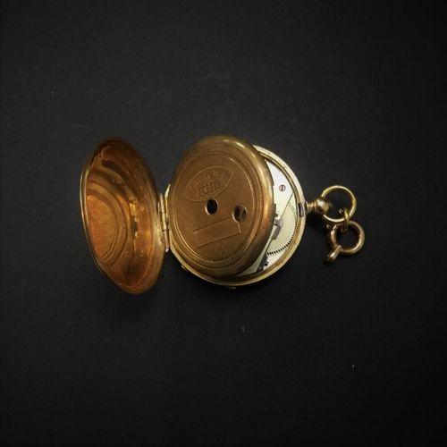 Montre de col or, cuvette intérieur métal  Poids brut : 19,2 g sans garantie de …