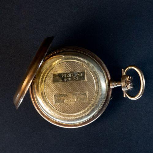 Montre de gousset double boitier or  Poids brut : 89 g sans garantie de l'état d…