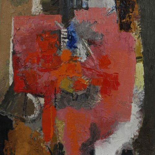 Abstract composition. Acrylic and TM on canvas SBD.15F