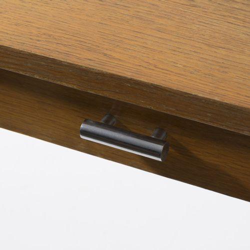 Allemagne, Table console, années 1930, H. 72,5 x 80 x 40 cm ; Tube Ø 2,0 cm. Aci…