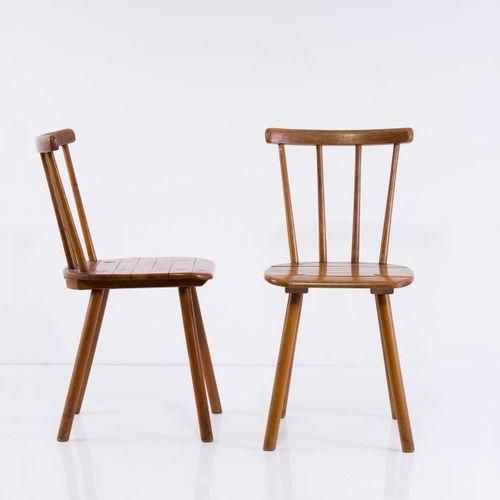 Adolf G. Schneck , 2 chaises 'Tübingen', vers 1934, H. 83 x 40,5 x 51 cm. Fabriq…