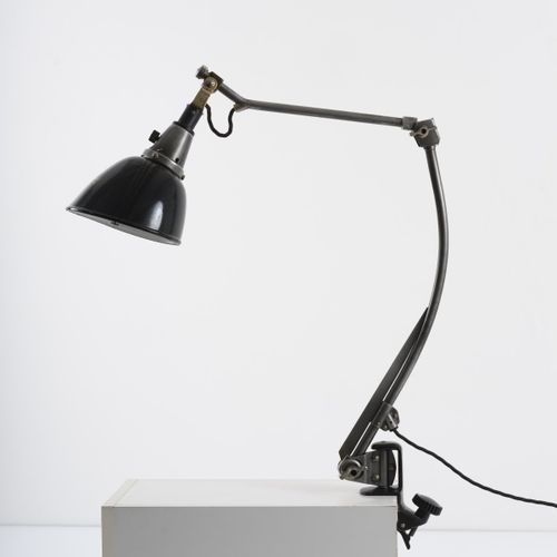 "Curt Fischer, ""Midgard"" lampe à pince ""double bras de table taille II"", c. 1926,…"