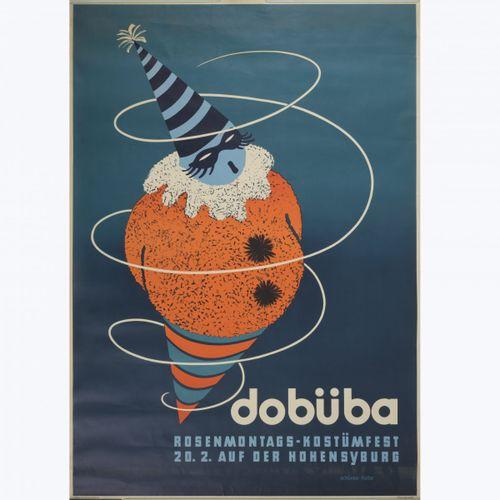 """Schünke Fietze, affiche """"Dobüba"""", 1938, 119,7 x 84 cm. Lithographie en couleur s…"""