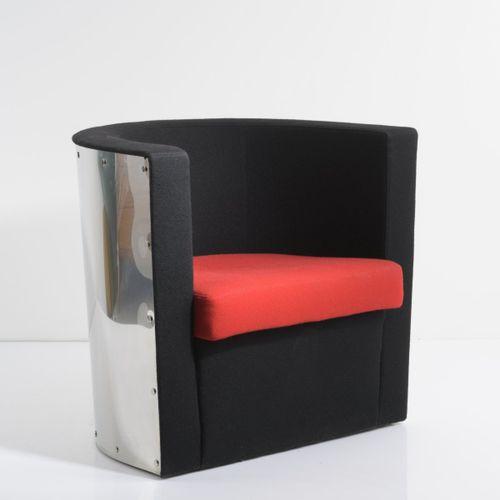 El Lissitzky, fauteuil 'D 62', 1928/1978, H. 72 x 80 x 65 cm. Fabriqué par Tecta…