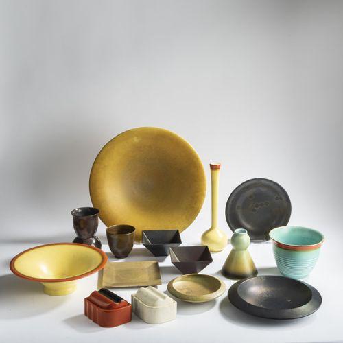 Margarete Heymann Marks , 15 vases et bols, 1929/30, 1. Bol, jaune orange. H. 8 …
