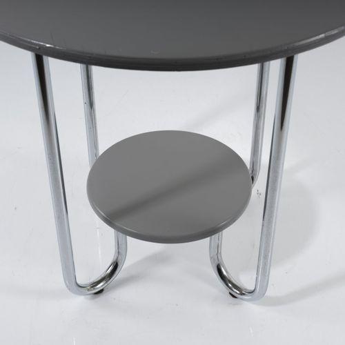 Metz & Co., Rotterdam, Table d'appoint, c. 1935, H. 60,5 cm, D. 64 cm ; Tube : D…