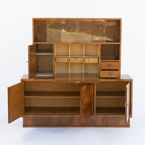 Innendecoration Carl Vogel, Vienne, Secrétaire, années 1920, H. 166,5 x 168,5 x …