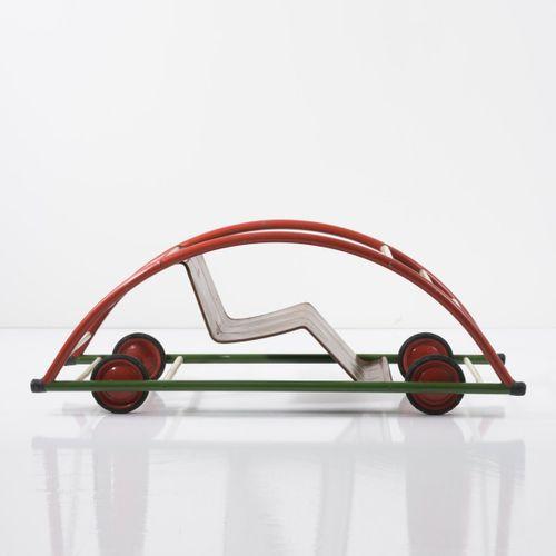 Hans Brockhage, Rocking chair/car (variation), 1950, H. 37 x 98,5 x 36,5 cm. Fab…