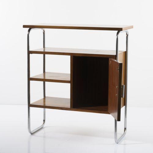 Allemagne, Petite étagère / armoire, 1932, H. 90 x 80 x 35 cm ; Tube Ø 2,2 cm. A…
