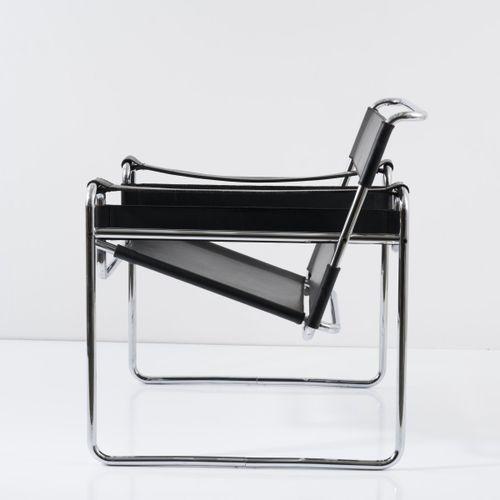 Marcel Breuer, chaise longue 'B3' 'Wassily', 1925, H. 73,5 x 79 x 68 cm. Fabriqu…