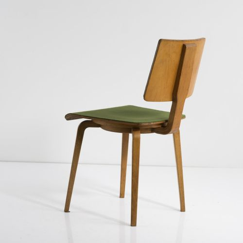 "Franz Ehrlich, fauteuil ""Radio hall"", c. 1955, H. 76 x 41,5 x 51,5 cm. Fabriqué …"