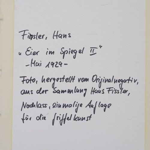 Hans Finsler, photographie 'Eier im Spiegel II', 1929, 33 x 25 cm. Tirage à la g…