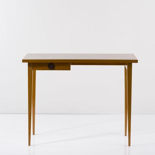 Italie, Table console, c. 1950, H. 79 x 100,5 x 43 cm. Noyer, placage de bois de…
