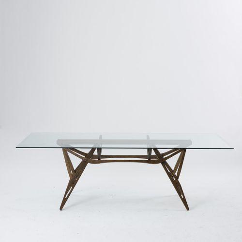 "Carlo Mollino, table ""2320 Reale"", 1946, H. 73 x 220 x 90 cm. Fabriquée par Zano…"