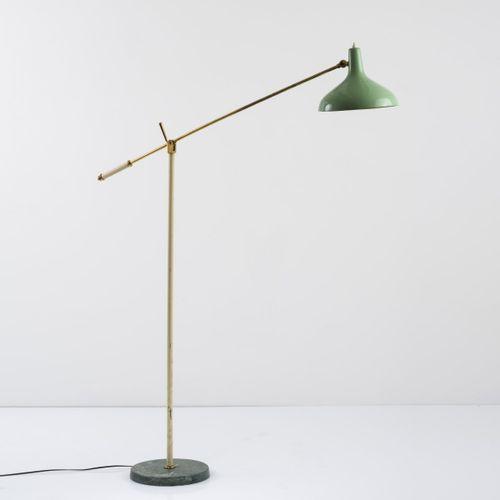 Stilnovo, Milan (attr.), Lampadaire, années 1950, H. 171 cm, P. 24 cm. Base en m…