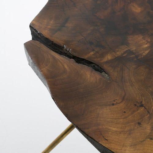 """Carl Auböck, table """"Tronc d'arbre"""", c. 1955, H. 42 x 74 x 44 cm. Fabriquée par l…"""