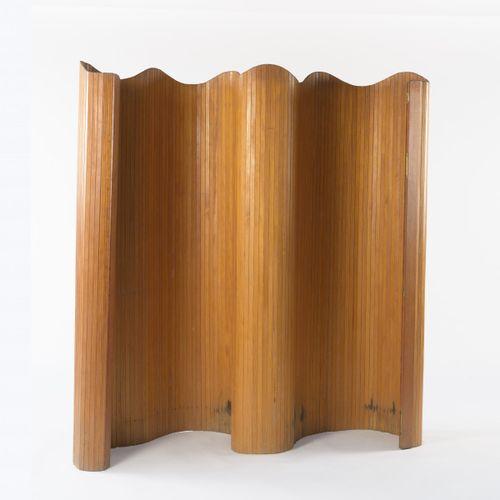 Jomain Baumann & Co., Paris, Écran, années 1950, H. 180 x 194 cm. Lamelles en bo…