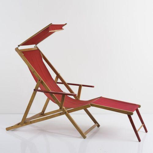 G. R. Ind. Piemontese, Chaise longue / chaise longue, années 1940, H. 113 122 x …